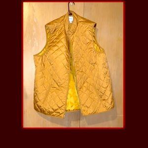 Plus size mustard vest jacket